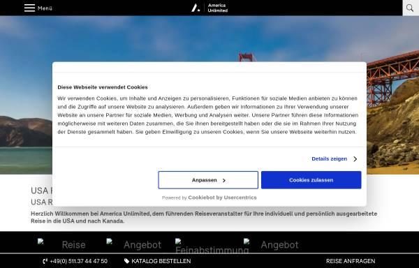 Vorschau von www.america-unlimited.de, America Unlimited GmbH