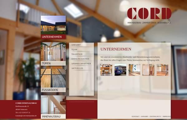 Vorschau von www.innenausbau-cord.de, Cord Innenausbau, Werner Cord