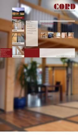 Vorschau der mobilen Webseite www.innenausbau-cord.de, Cord Innenausbau, Werner Cord