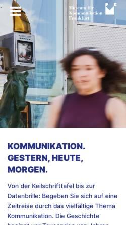 Vorschau der mobilen Webseite www.mfk-frankfurt.de, Museum für Kommunikation