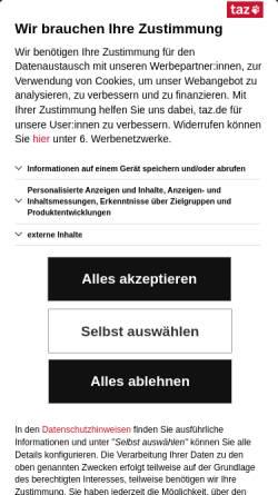 Vorschau der mobilen Webseite www.taz.de, Crazy Campus-Katzen