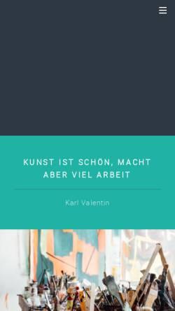Vorschau der mobilen Webseite www.frank-boehrnsen.de, Kunstmaler Frank Böhrnsen
