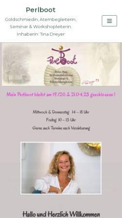 Vorschau der mobilen Webseite www.goldschmiede-dreyer.de, Goldschmiede Dreyer