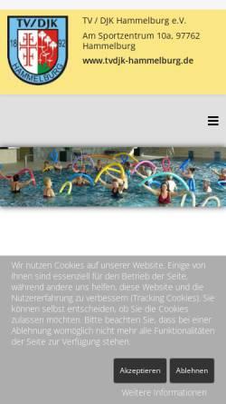 Vorschau der mobilen Webseite www.tvdjk-hammelburg.de, TV/DJK Hammelburg 1892 e.V.