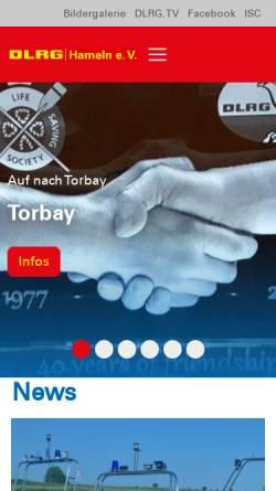 Vorschau der mobilen Webseite hameln.dlrg.de, DLRG Ortsgruppe Hameln e.V.