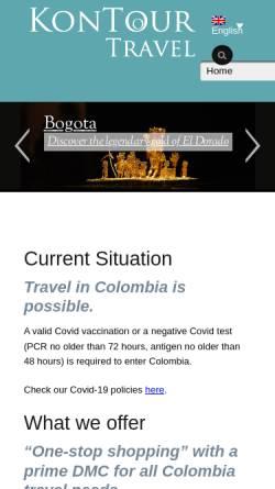 Vorschau der mobilen Webseite www.kontour-travel.com, KonTour Exklusiv Reisen