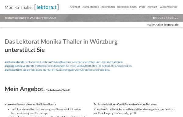 Vorschau von www.thaller-lektorat.de, Monika Thaller