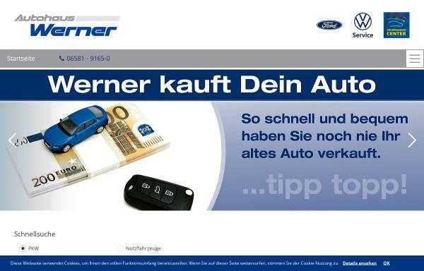 Vorschau von www.ford-werner.de, Autohaus Werner GmbH