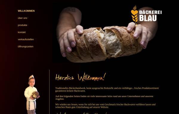 Vorschau von baeckerei-blau.de, Bäckerei Frischemarkt Café Blau