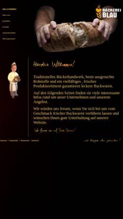 Vorschau der mobilen Webseite baeckerei-blau.de, Bäckerei Frischemarkt Café Blau