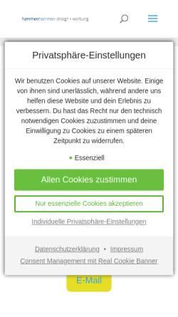 Vorschau der mobilen Webseite www.h2com.de, hammen und hammen communication