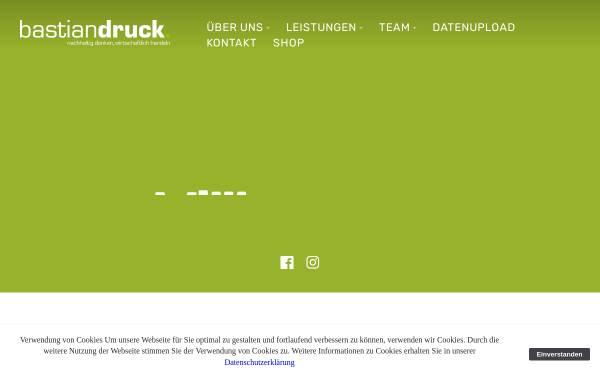 Vorschau von www.bastiandruck.de, Nikolaus Bastian Druck und Verlag GmbH