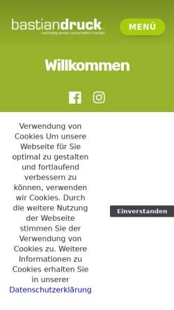 Vorschau der mobilen Webseite www.bastiandruck.de, Nikolaus Bastian Druck und Verlag GmbH