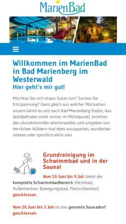 Vorschau der mobilen Webseite www.marienbad-info.de, MarienBad