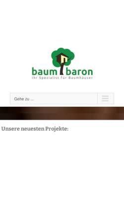 Vorschau der mobilen Webseite www.baumbaron.de, Baumbaron GmbH