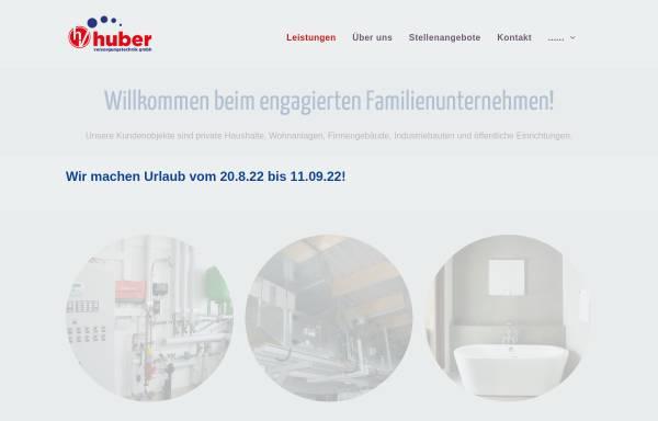 Vorschau von www.huber-versorgungstechnik.de, Huber Versorgungstechnik GmbH