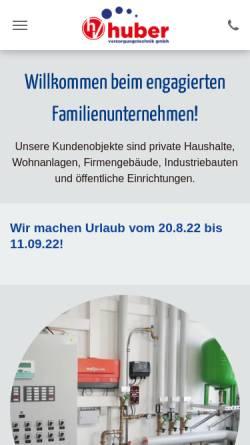 Vorschau der mobilen Webseite www.huber-versorgungstechnik.de, Huber Versorgungstechnik GmbH