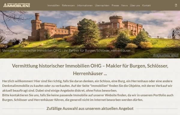 Vorschau von www.schloss-burg-verkauf.de, Vermittlung historischer Immobilien OHG