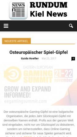 Vorschau der mobilen Webseite www.rundumkiel.de, Rundumkiel