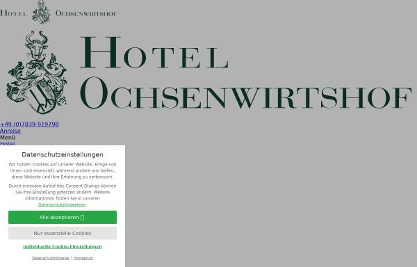 Vorschau von www.ochsenwirtshof.de, Hotel Restaurant Ochsenwirtshof