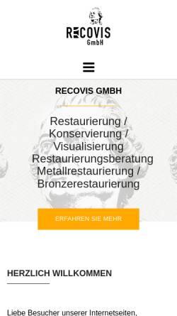 Vorschau der mobilen Webseite www.recovis-restaurierung.de, Recovis GmbH