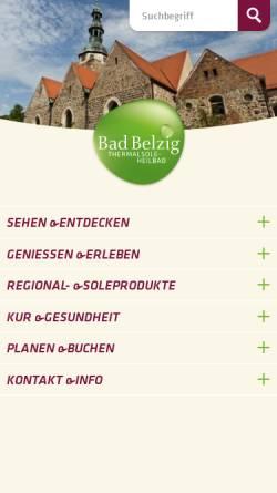 Vorschau der mobilen Webseite www.belzig.com, Luftkurort Belzig