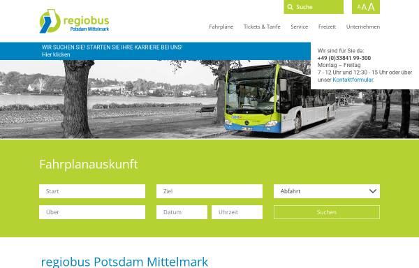 Vorschau von www.vgbelzig.de, Verkehrsgesellschaft Belzig mbH