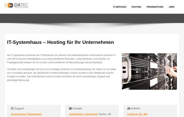Vorschau von www.datec-schmidt.de, Datentechnik Schmidt GbR