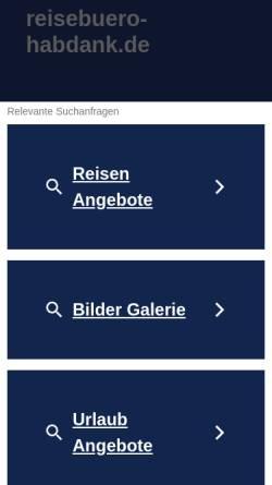 Vorschau der mobilen Webseite www.reisebuero-habdank.de, Reisebüro Habdank