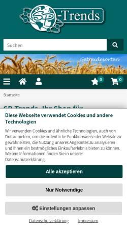 Vorschau der mobilen Webseite www.spies-gmbh.de, Spies GmbH