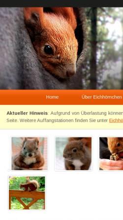 Vorschau der mobilen Webseite www.eichhoernchenhilfe-berlin.de, Eichhörnchenhilfe Berlin Brandenburg e.V.