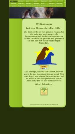 Vorschau der mobilen Webseite www.hopscotch-tierhilfe.org, Hopscotch-Tierhilfe e.V.