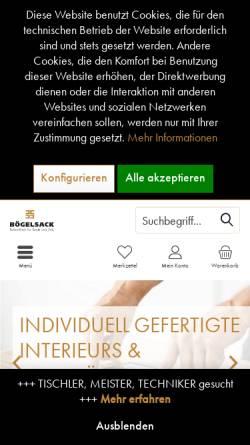 Vorschau der mobilen Webseite www.tischlerei-boegelsack.de, Tischlerei Bögelsack