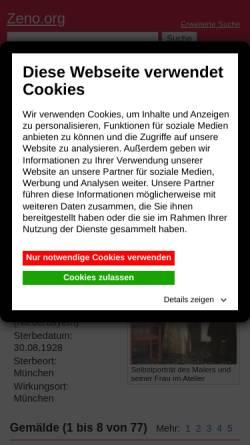 Vorschau der mobilen Webseite www.zeno.org, Werke von Franz von Stuck