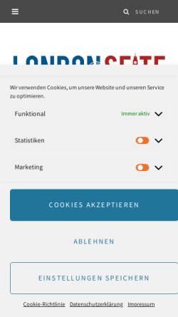Vorschau der mobilen Webseite www.londonseite.de, Londonseite