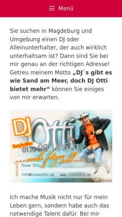 Vorschau der mobilen Webseite www.steveotto.de, DJ Otti