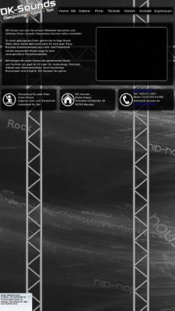 Vorschau der mobilen Webseite www.dk-sounds.de, DK Sounds