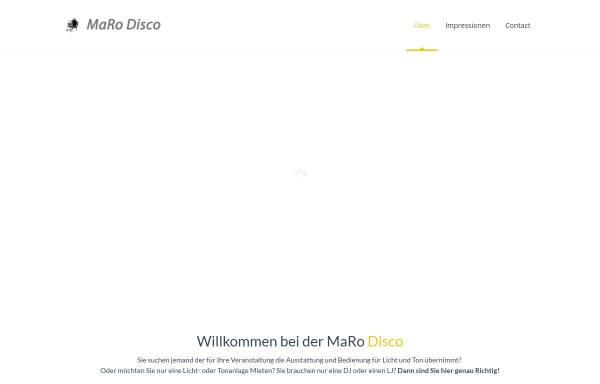 Vorschau von www.maro-disco.de, MaRo Disco