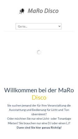 Vorschau der mobilen Webseite www.maro-disco.de, MaRo Disco