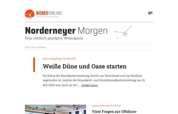 Vorschau von www.nomo-norderney.de, Norderneyer Morgen