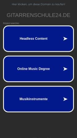 Vorschau der mobilen Webseite www.gitarrenschule24.de, gitarrissi-mo