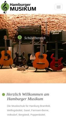 Vorschau der mobilen Webseite www.hamburger-musikum.de, Hamburger Musikum