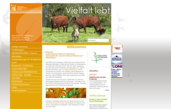 """Vorschau von www.vielfalt-lebt.de, Kampagne """"Vielfalt lebt"""" des Naturparks Bergisches Land"""