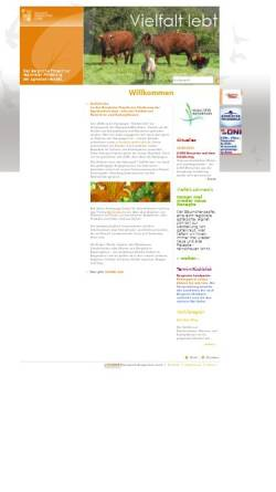 """Vorschau der mobilen Webseite www.vielfalt-lebt.de, Kampagne """"Vielfalt lebt"""" des Naturparks Bergisches Land"""