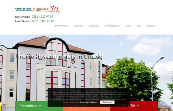 Vorschau von www.bewegung-in-sachsen.de, Physio-Med. Therapiezentrum Schönfeld