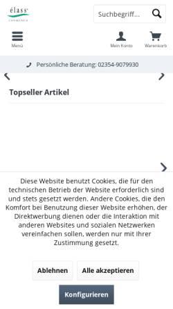 Vorschau der mobilen Webseite www.haus-der-naturprodukte.de, élass Cosmetics GmbH