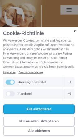 Vorschau der mobilen Webseite www.esde-betreuung.de, ESDE Seniorenbetreuung und Krankenbetreuung