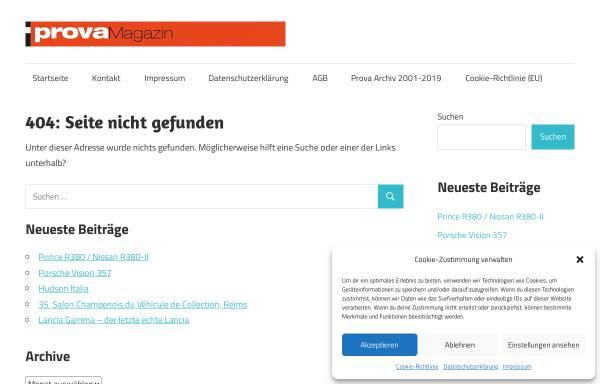 Vorschau von www.prova.de, Magazin für automobile Avantgarde