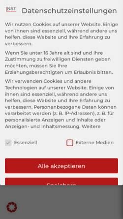 Vorschau der mobilen Webseite www.nst-inso.com, Niering Stöck Tömp Insolvenzverwaltungen