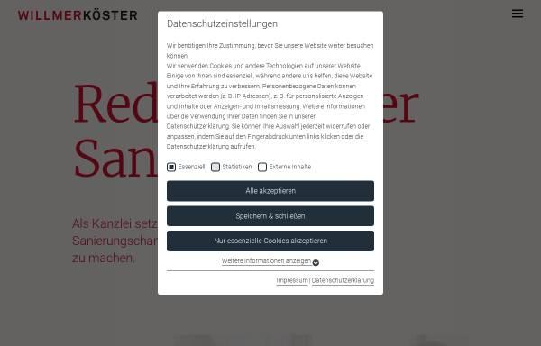 Vorschau von www.willmerkoester.de, Willmer & Partner